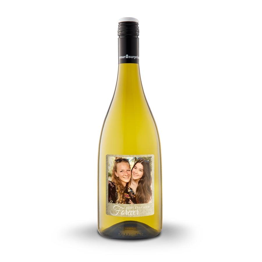 Wijn met bedrukt etiket - Maison de la Surprise - Chardonnay