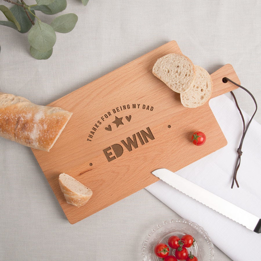 Vaderdag broodplank - Beuken - Rechthoek - Liggend