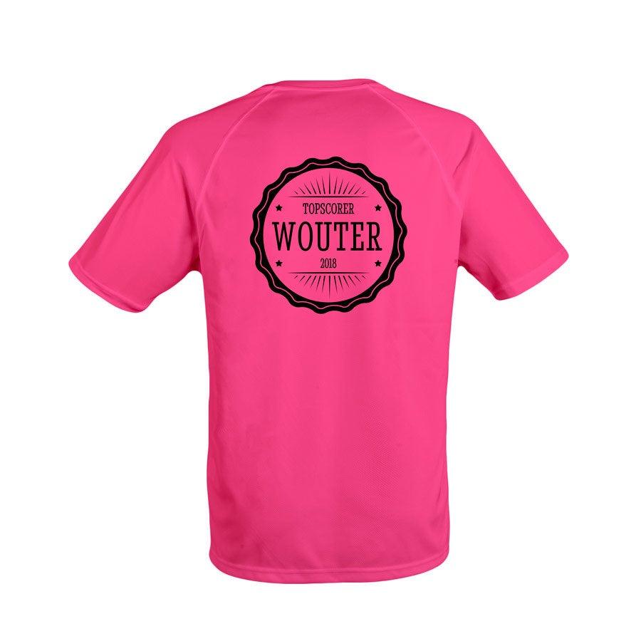 Sportshirt bedrukken - Heren - Roze - XXL