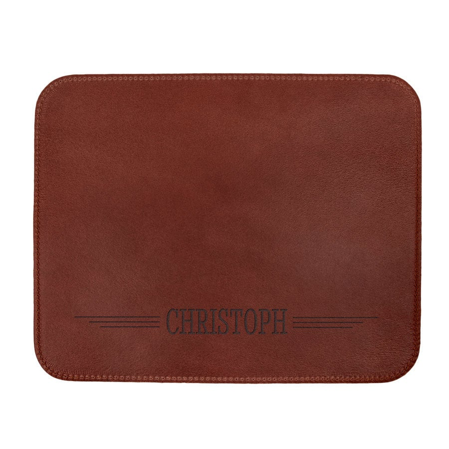 Personalised leather placemats - Brown