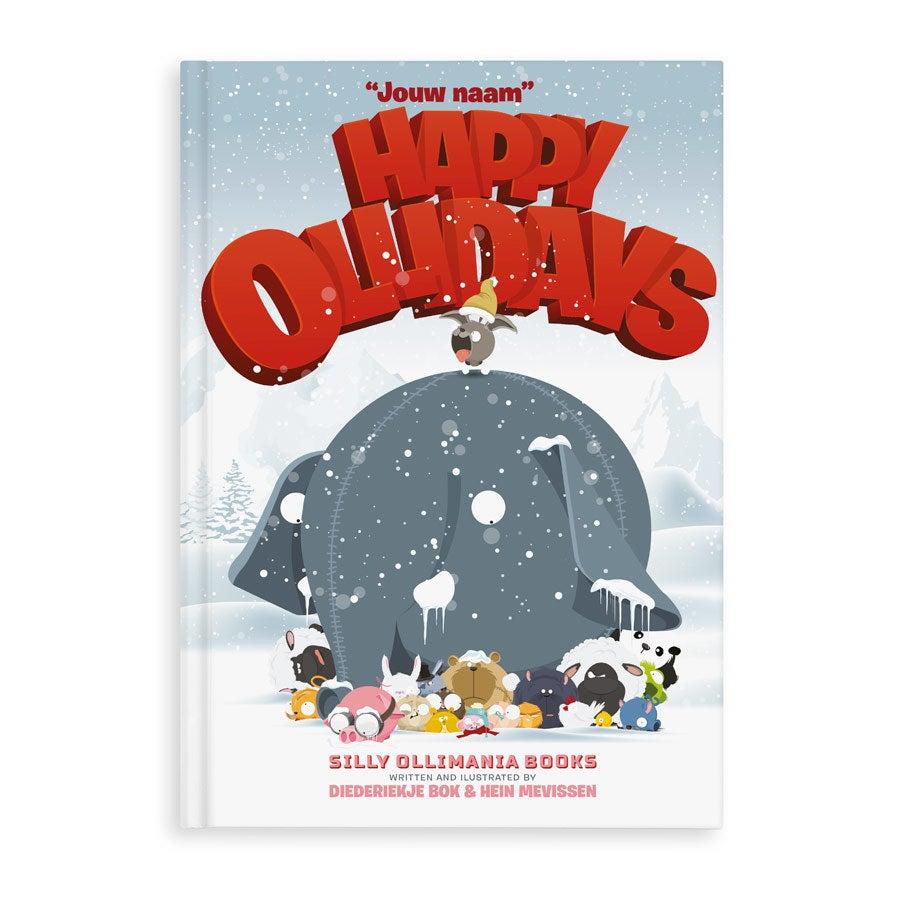 Boek met naam - Happy Ollidays (met wenskaarten) - Hardcover
