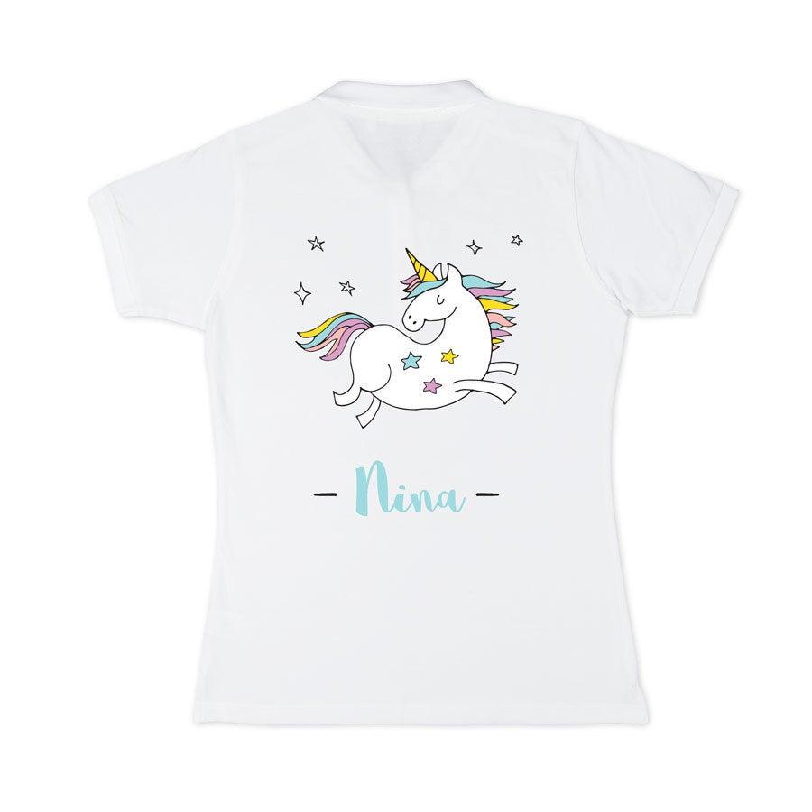 Poloshirt Damen - Weiß - S