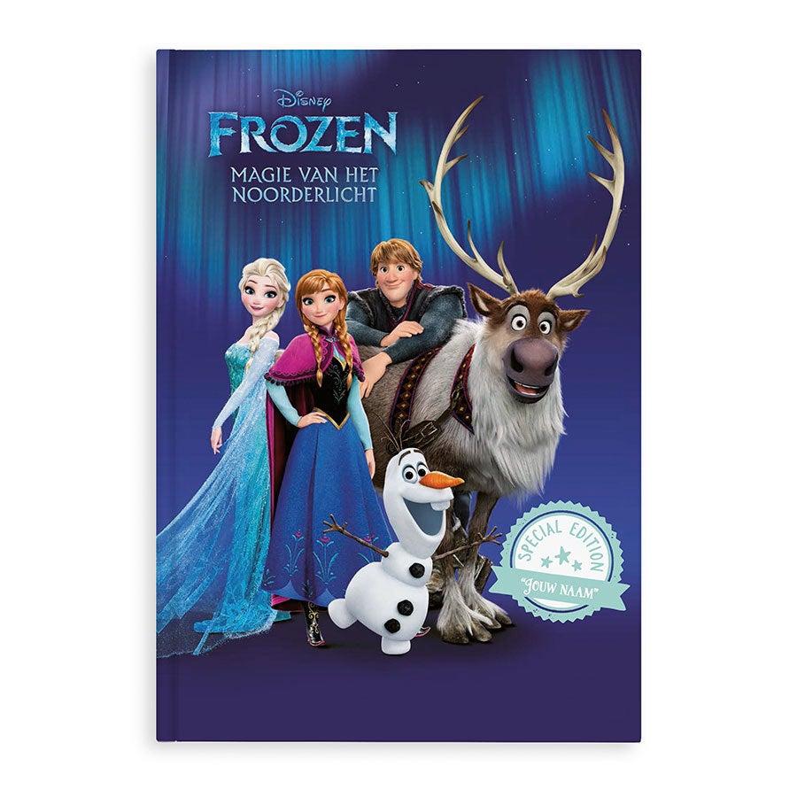 Boek met naam - Disney Frozen - Op zoek naar het noorderlicht - XL boek - Hardcover