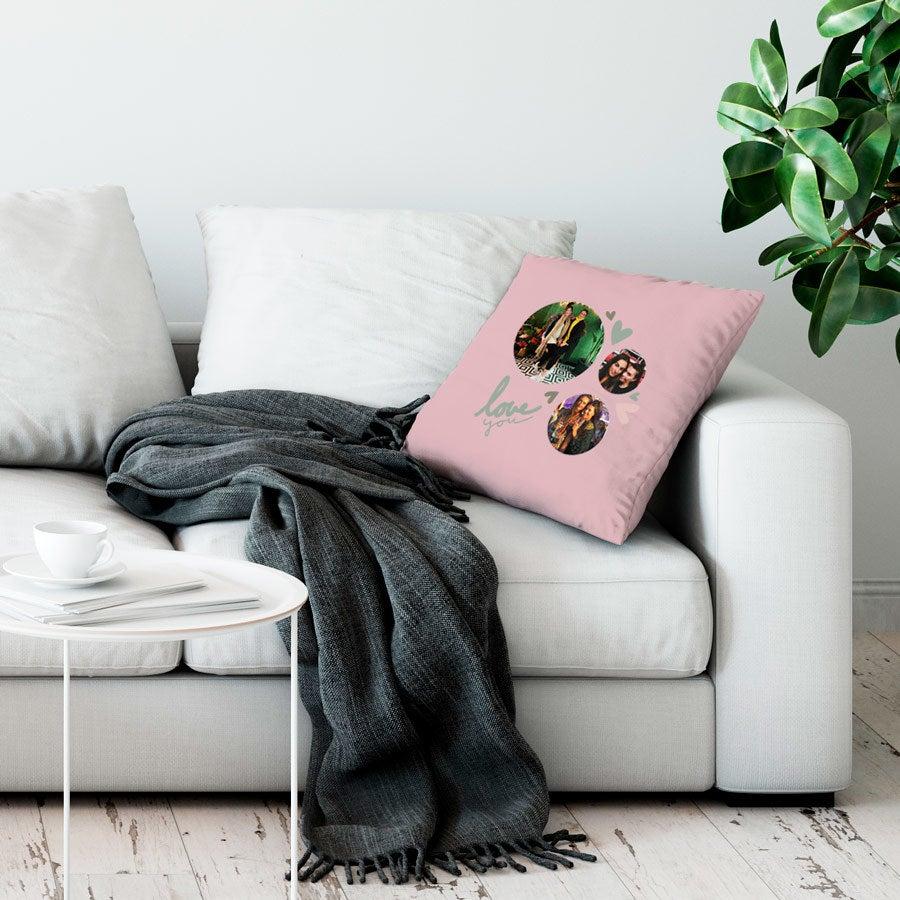 Love Throw tyyny - Suuri ei täytettävää - vaaleanpunainen