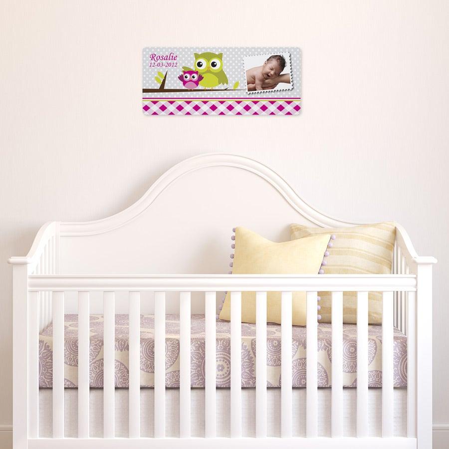 Placa do nome do bebê - menina