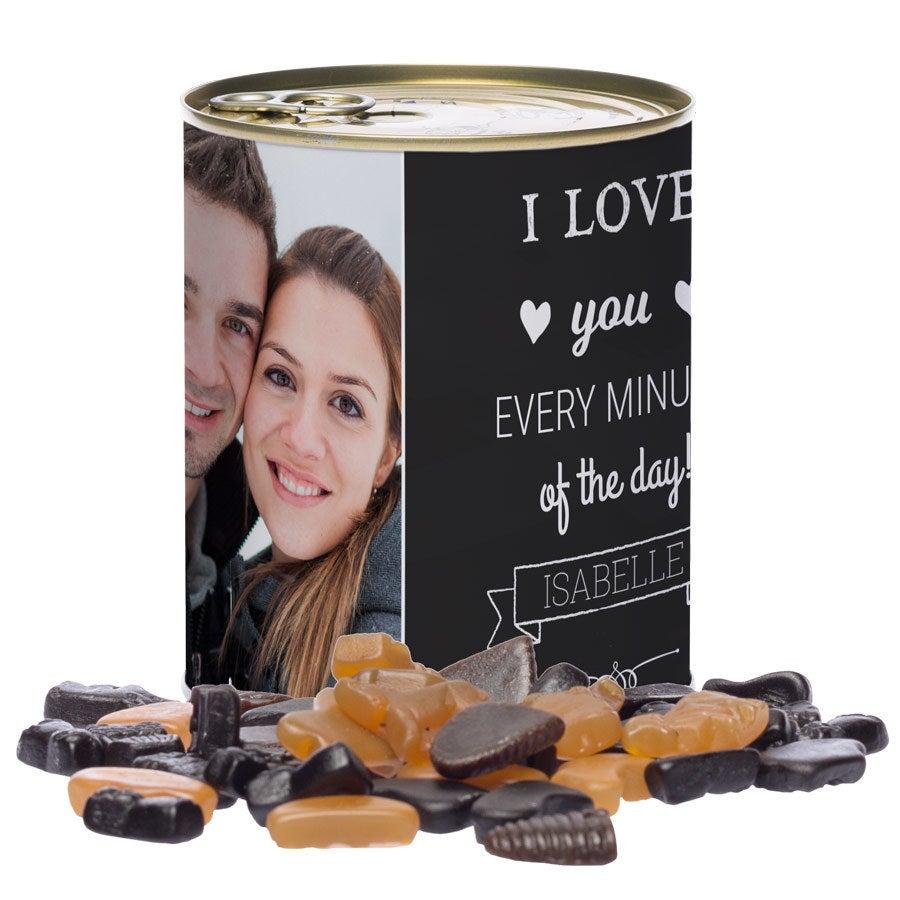 Tinn av søtsaker - nederlandsk lakris