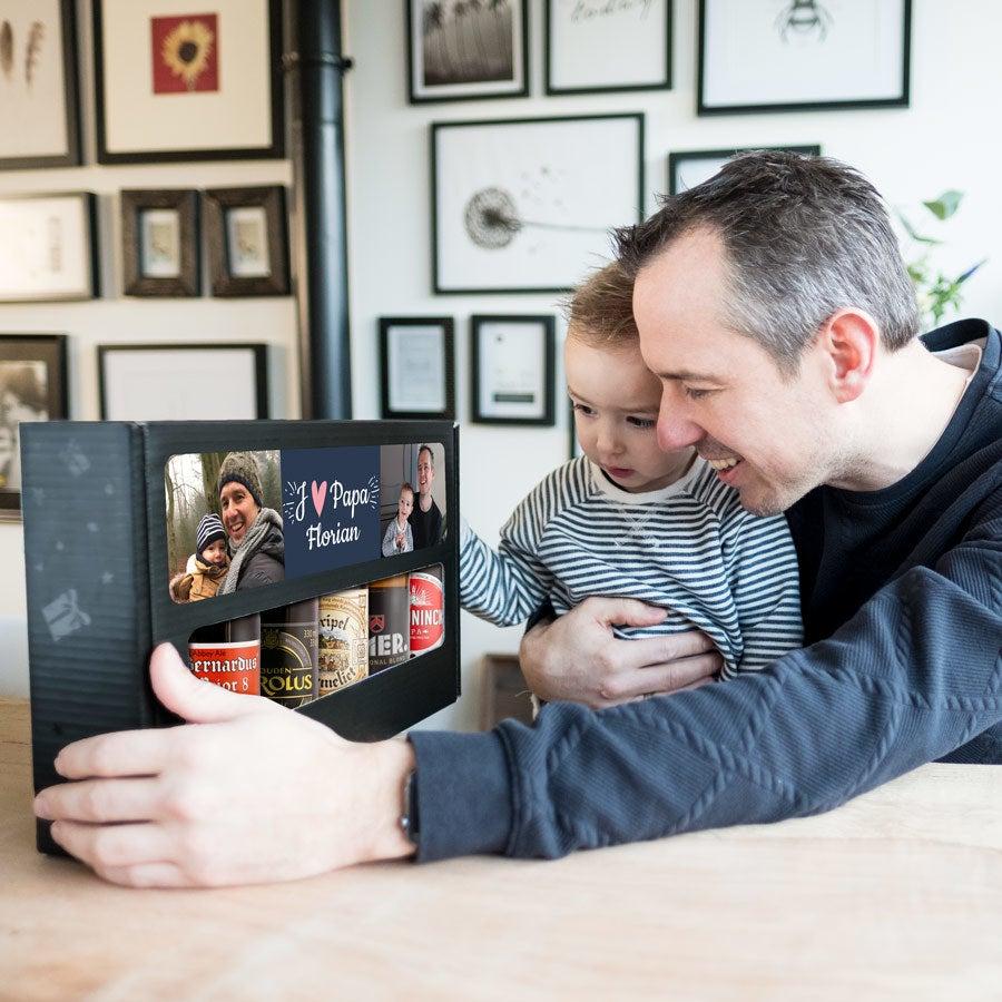 Coffret 5 bières belges - Thème Fête des Pères