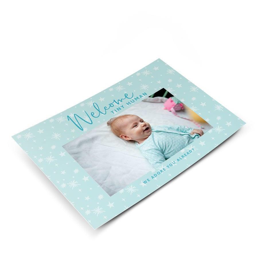 Geboorte ansichtkaartje met foto