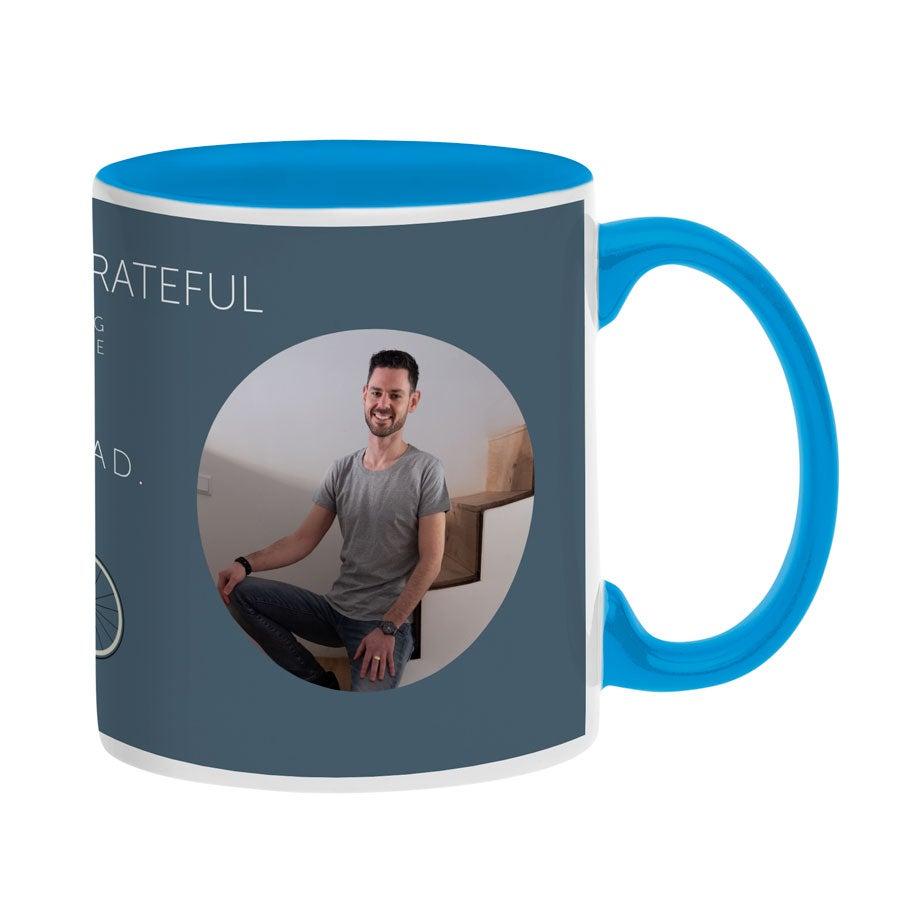 Tasse mit Foto - Blau