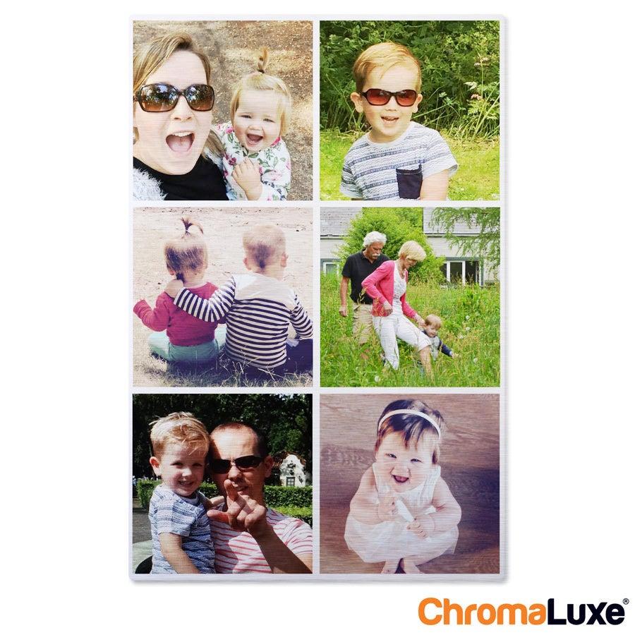 Instagram Collage auf Aluminium - Chromaluxe - Gebürstet (20x30)