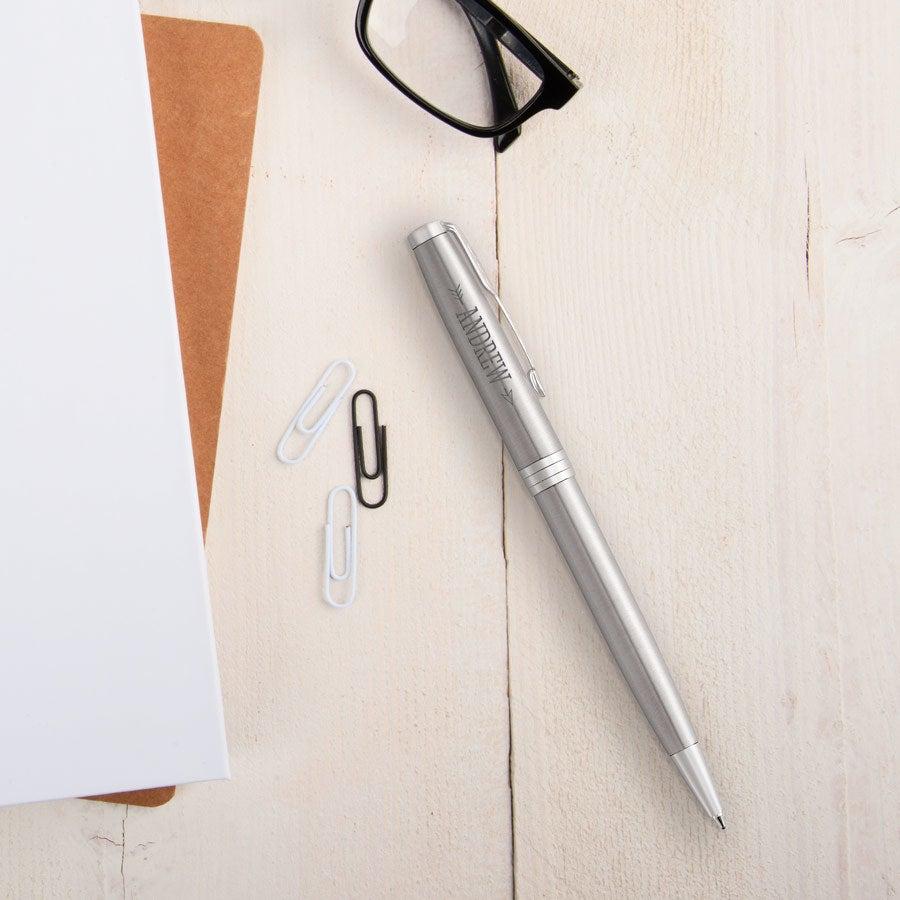 Parker - Sonnet Stål kulspetspenna - Silver (vänsterhänt)
