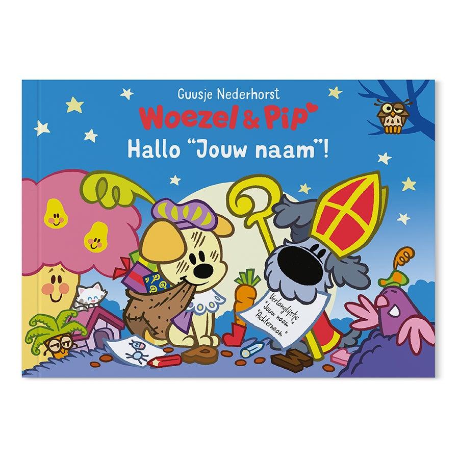 Boek met naam - Woezel & Pip - Hallo Sinterklaas - Softcover