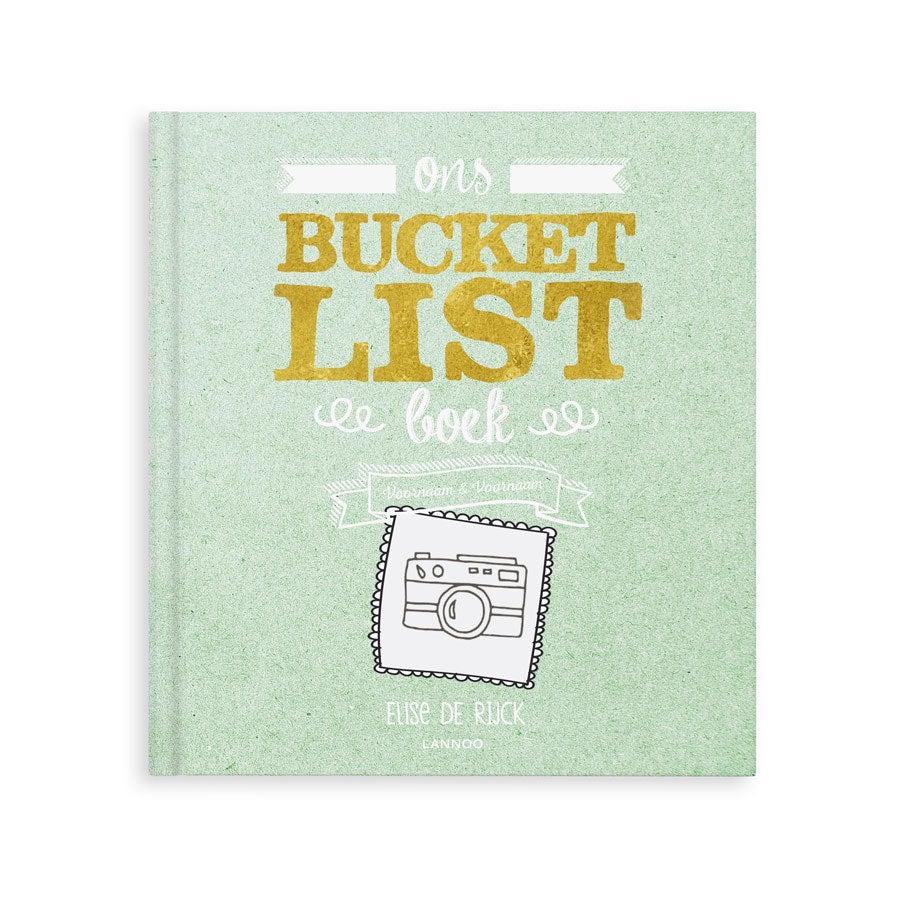 Het Bucketlist boek voor vrienden met namen en foto's (Softcover)