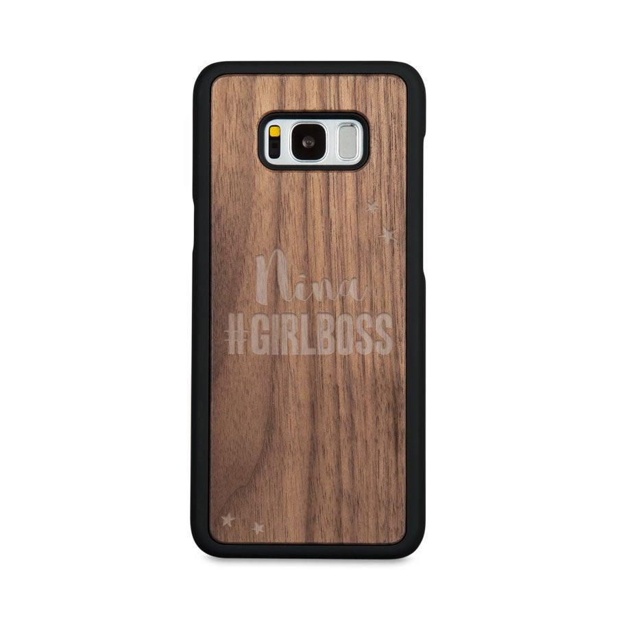 Houten telefoonhoesje graveren - Samsung Galaxy s8 plus