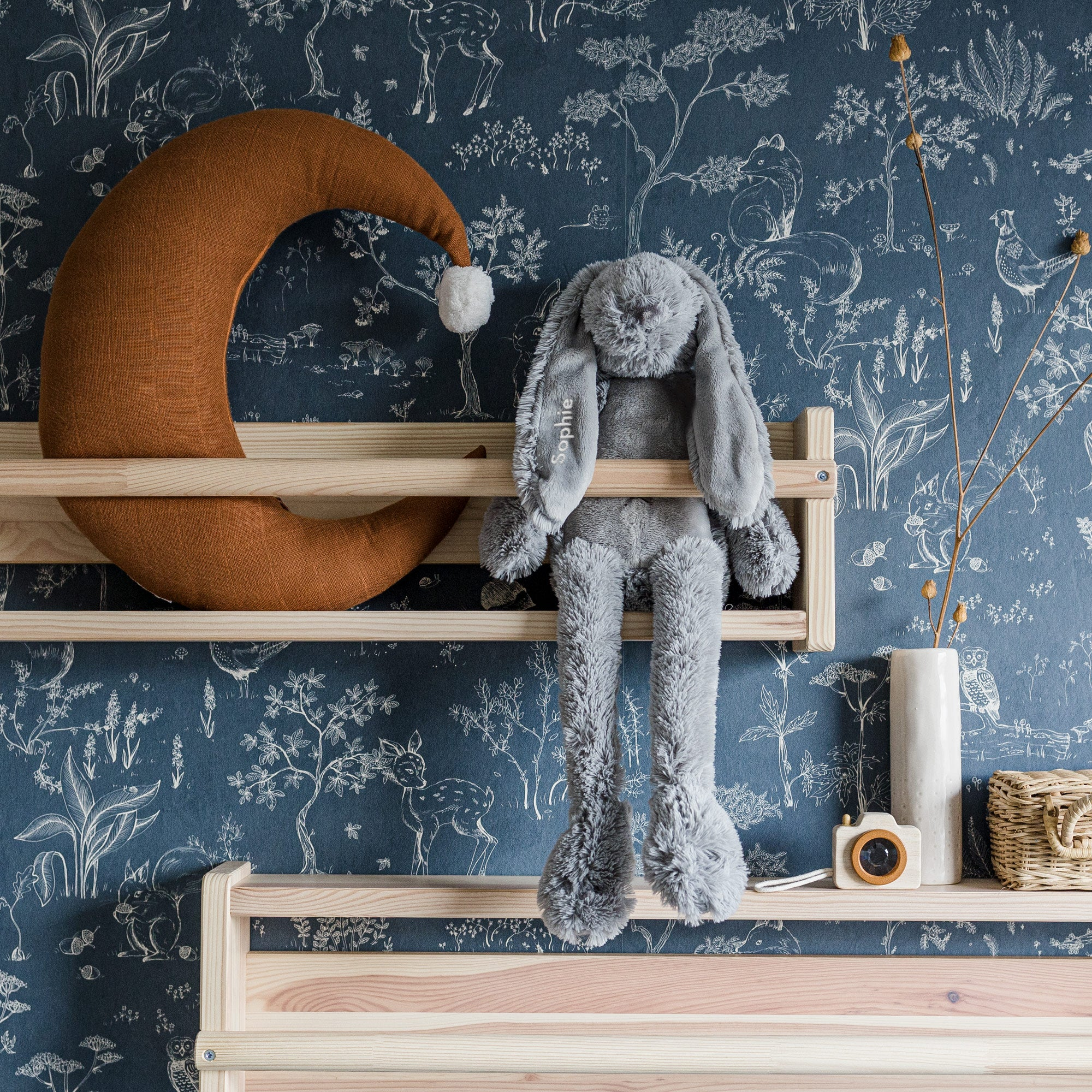Happy Horse konijn met naam - grijs