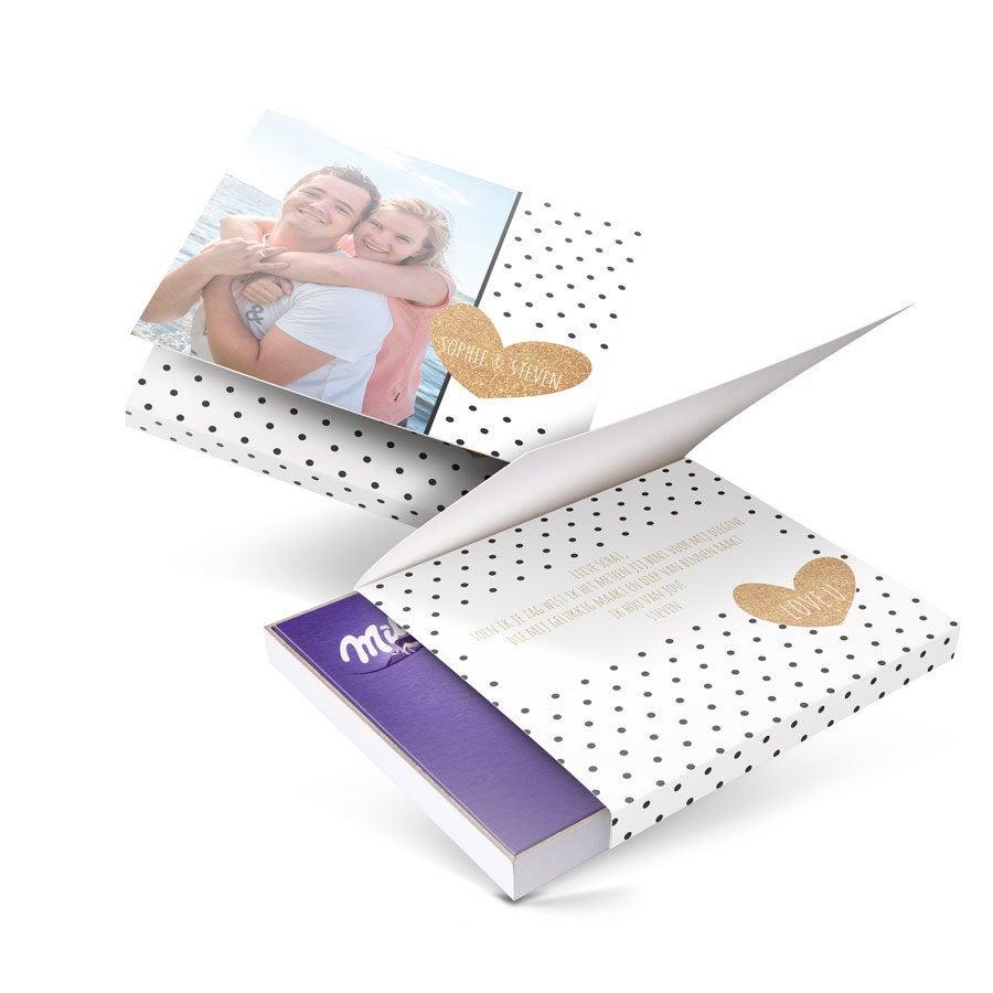 Chocobox - I love Milka! - Liefde - Hart 110 gram