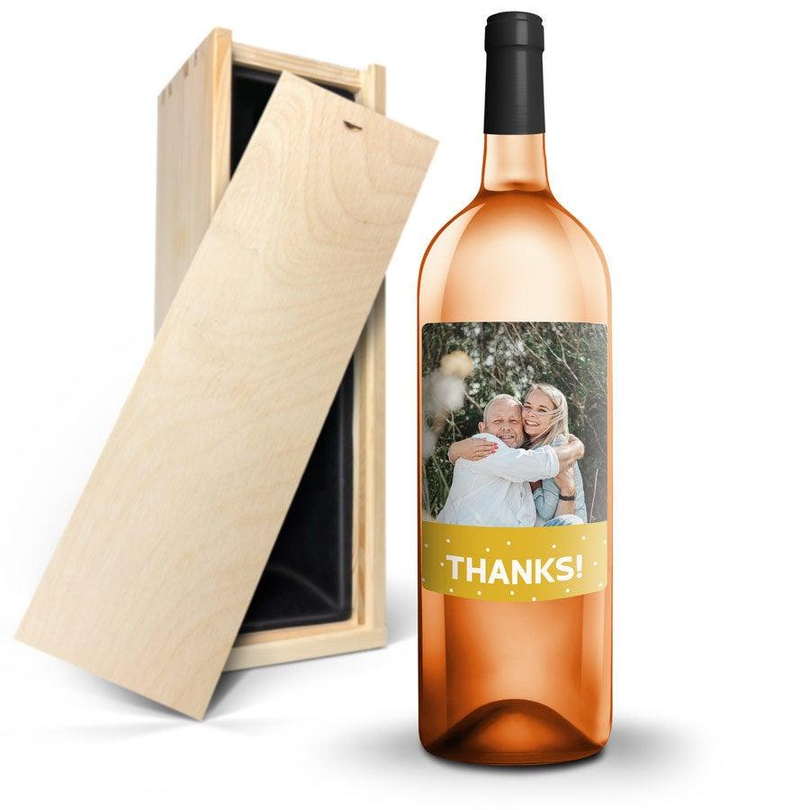 Różowe Wino - AIX - Etykieta ze zdjęciem
