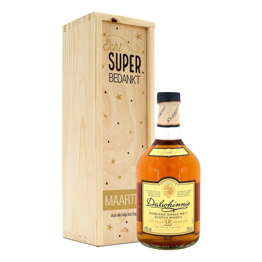 Whisky in bedrukte kist - Dalwhinnie 15 Years