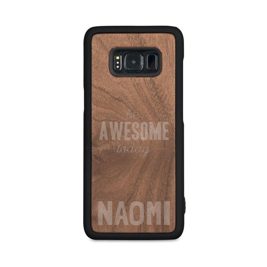 Houten telefoonhoesje graveren - Samsung Galaxy s8