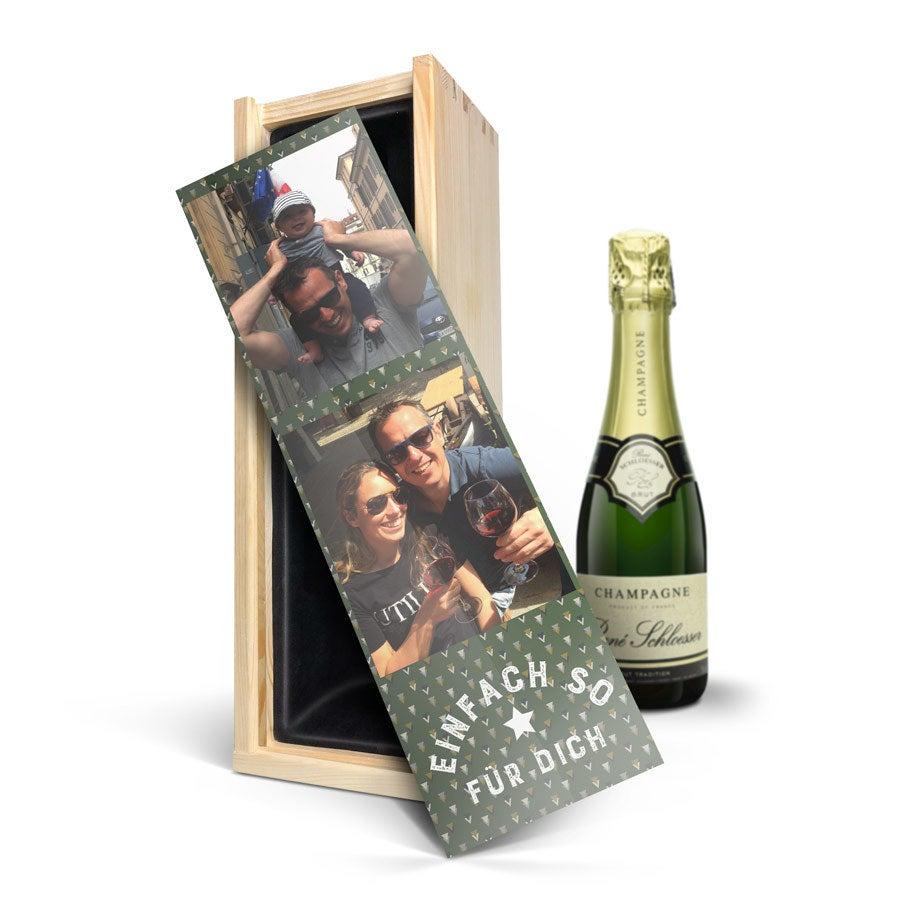 Champagner in bedruckter Kiste - Rene Schloesser (375 ml)