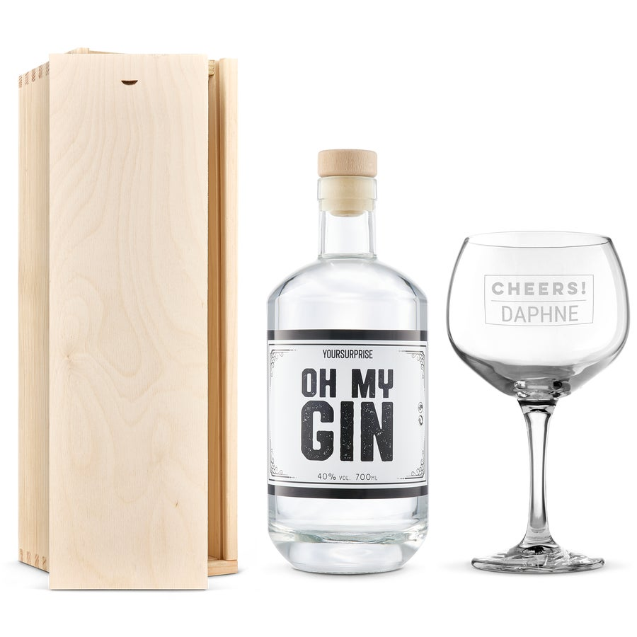 Gin gift set with glass - YourSurprise own brand