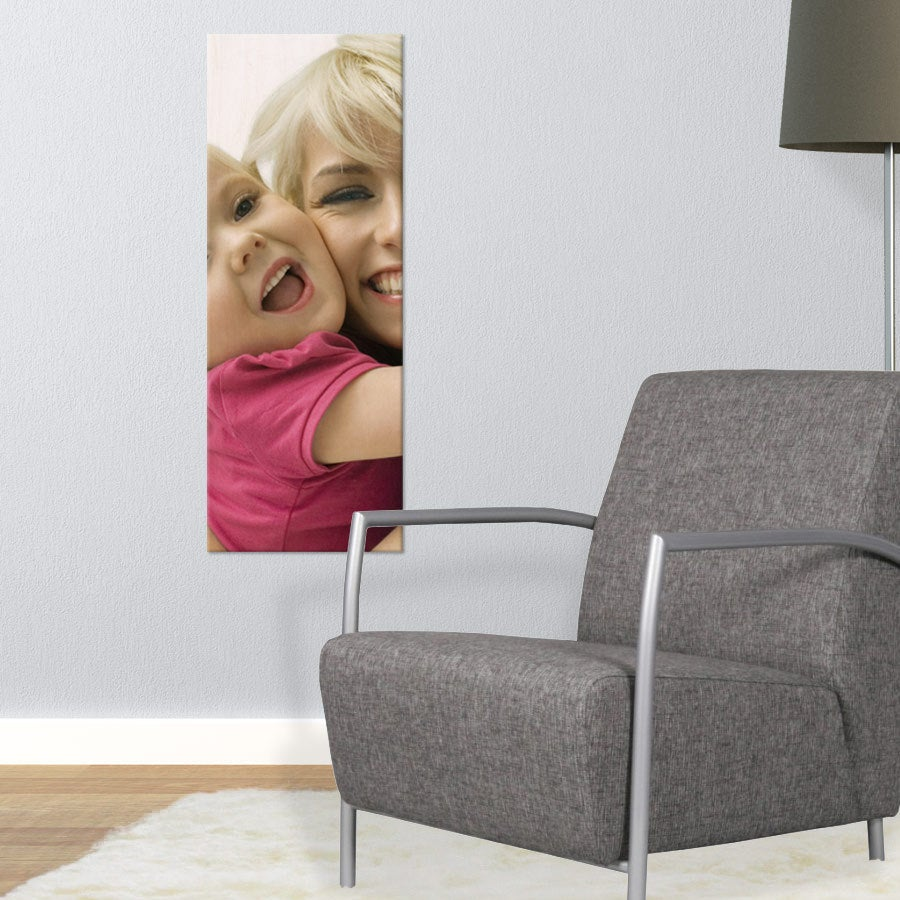 Fotoutskrift på träpanel (30x80cm)