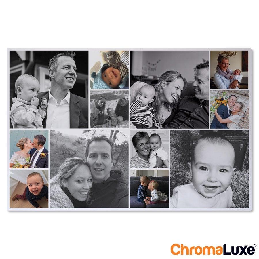 Instagram Collage auf Aluminium - Chromaluxe - Weiß (30x20)