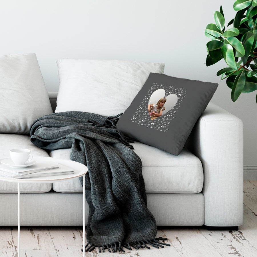Love Throw-tyyny - Suuri ei täytettävää - Tummanharmaa