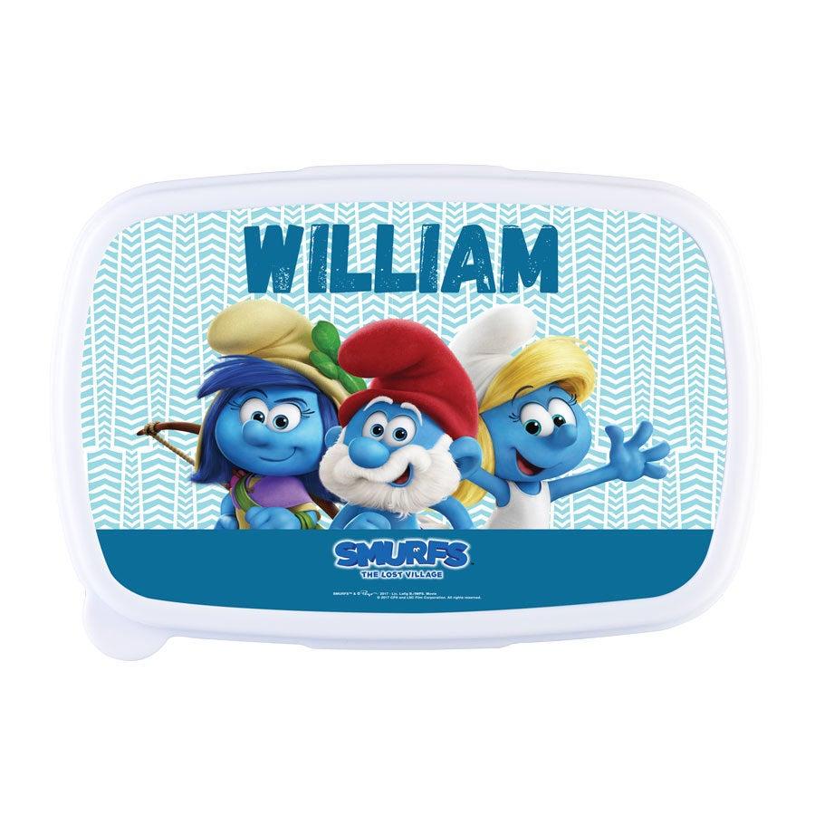 A lancheira dos Smurfs - Azul claro