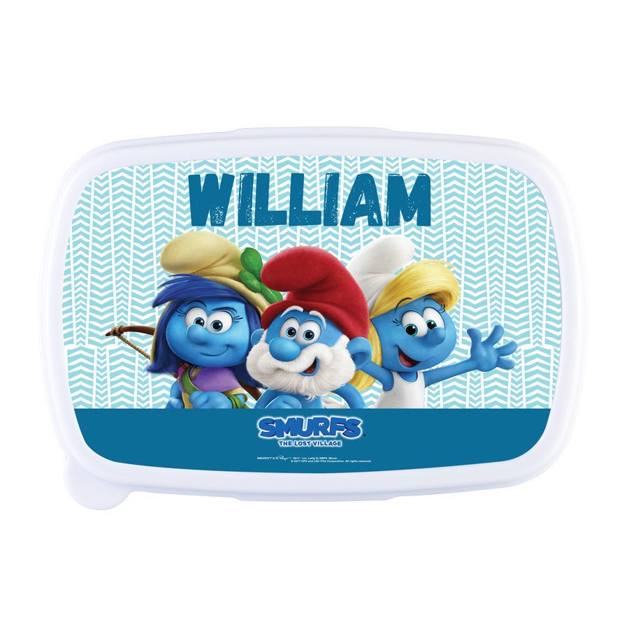 The Smurfs lunch box - Light blue