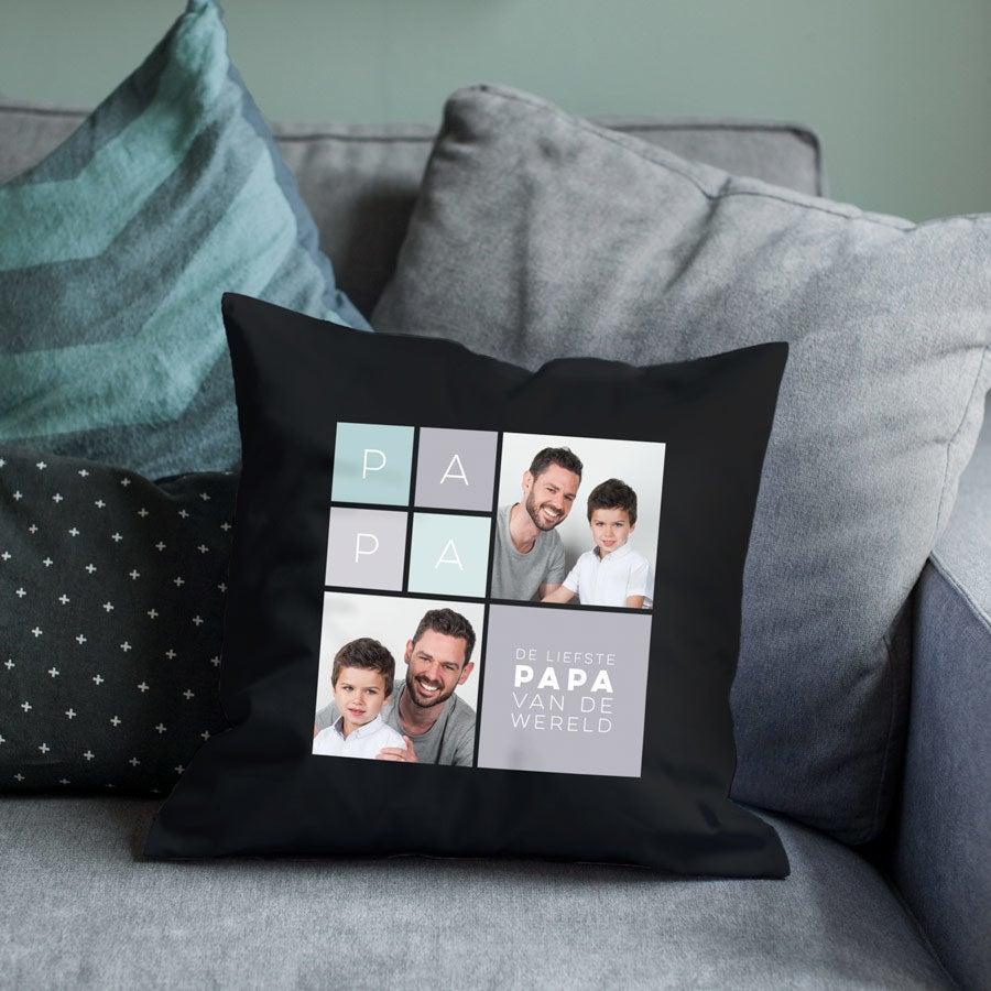 Vaderdag kussen bedrukken - Zwart - 40 x 40 cm