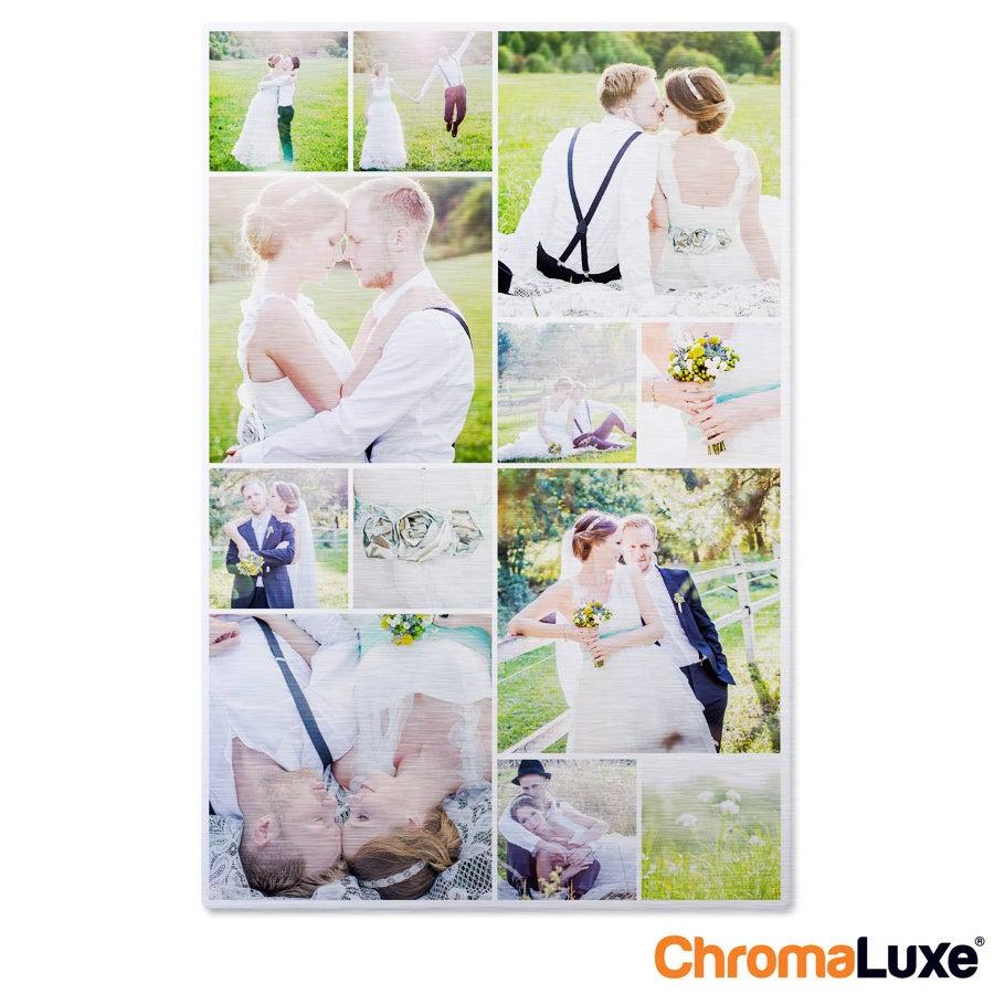 Individuellfotogeschenke - Instagram Collage auf Aluminium Chromaluxe Gebürstet (40x60) - Onlineshop YourSurprise