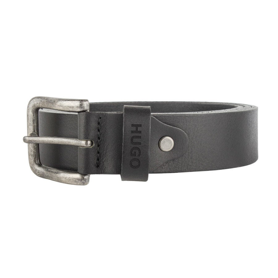 Personalised leather belt - Black (80)