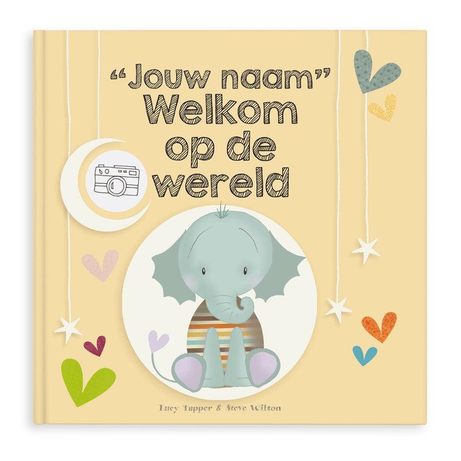 Boek met naam en foto Welkom op de wereld Hardcover