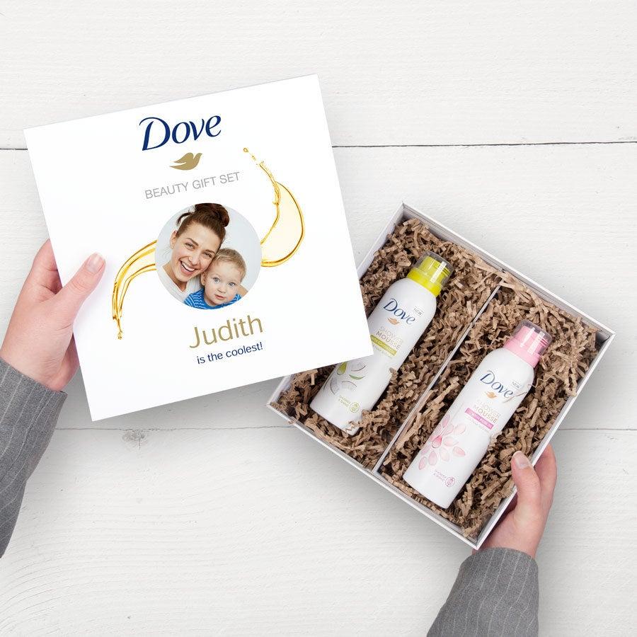 Dove – Personaliseret gavesæt med skumbad