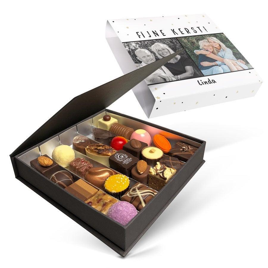 Luxe bonbon giftbox bedrukken - Kerst (25 stuks)