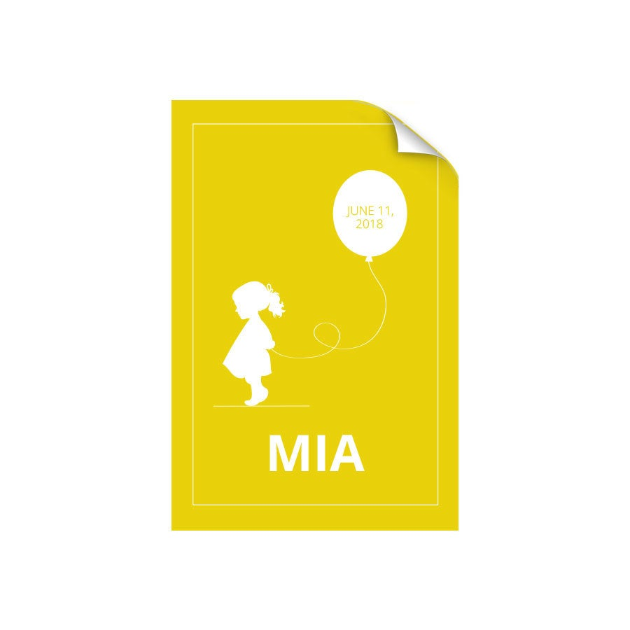 Plakát narození dítěte - 50 x 75 cm