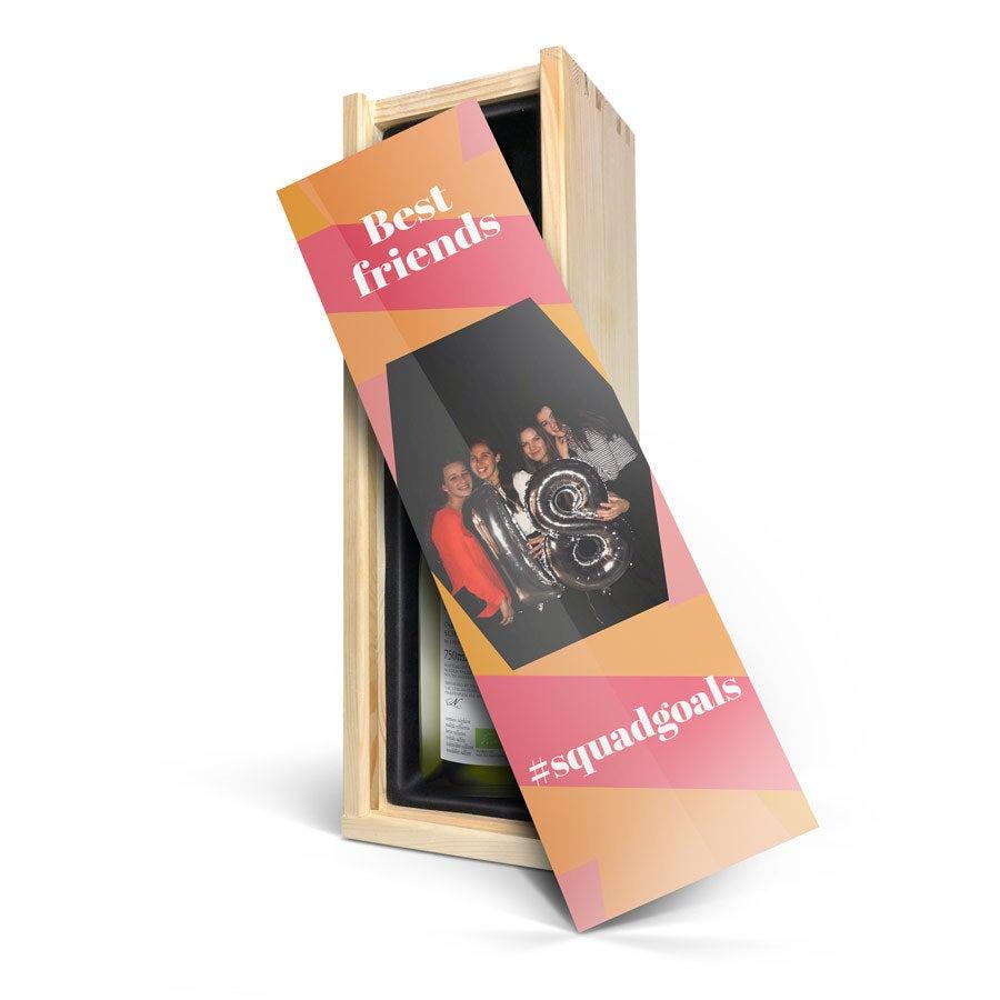Vinho com caixa personalizada - Yalumba Organic Chardonnay