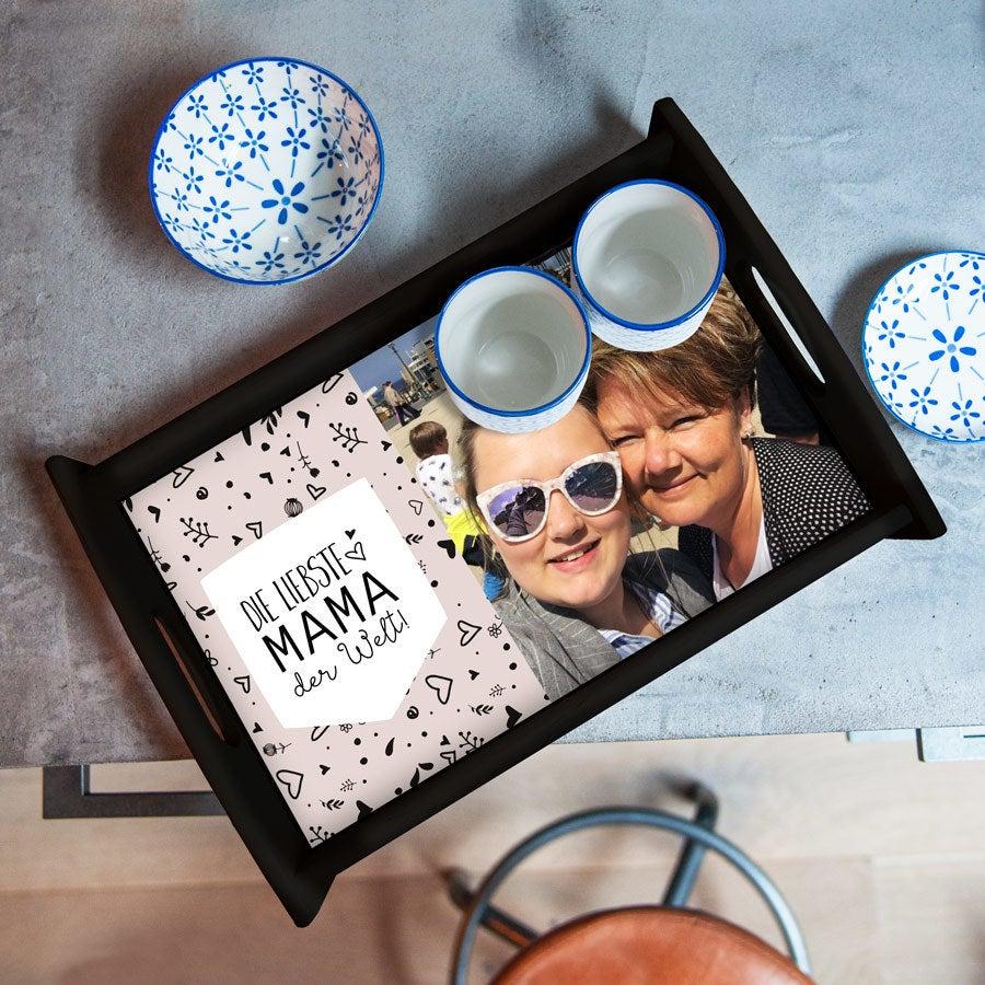 - Tablett Muttertag Schwarz groß - Onlineshop YourSurprise
