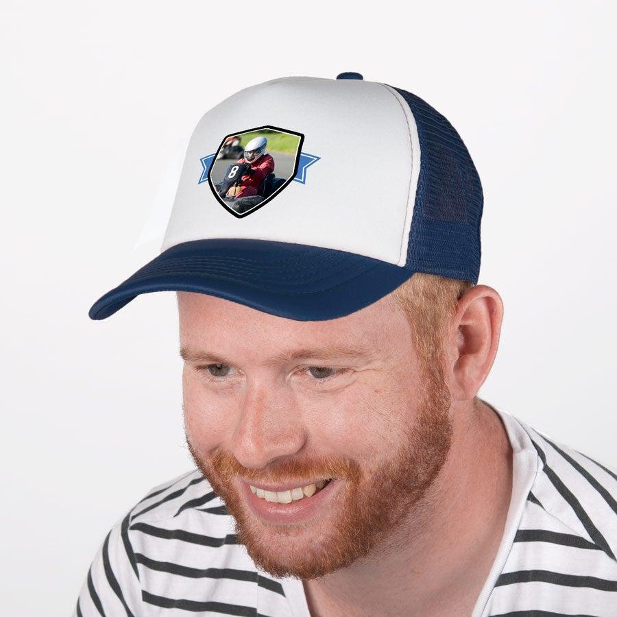 Trucker cap - Blauw/wit