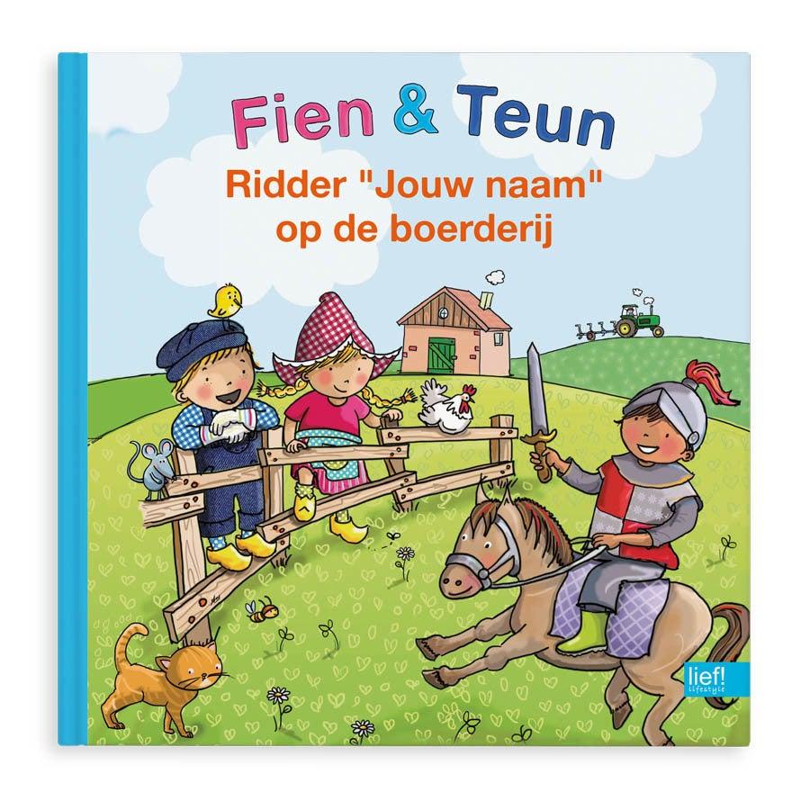 Boek met naam - Fien, Teun & Ridder op de boerderij - Hardcover