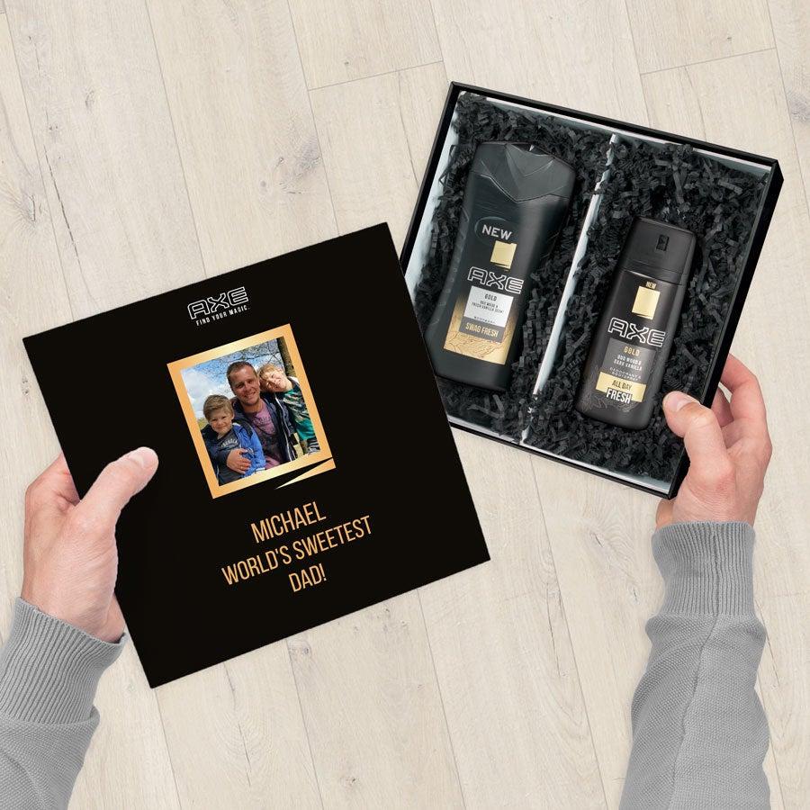 Axe lahjasetti - Suihkugeeli ja Deodorantti - Kulta