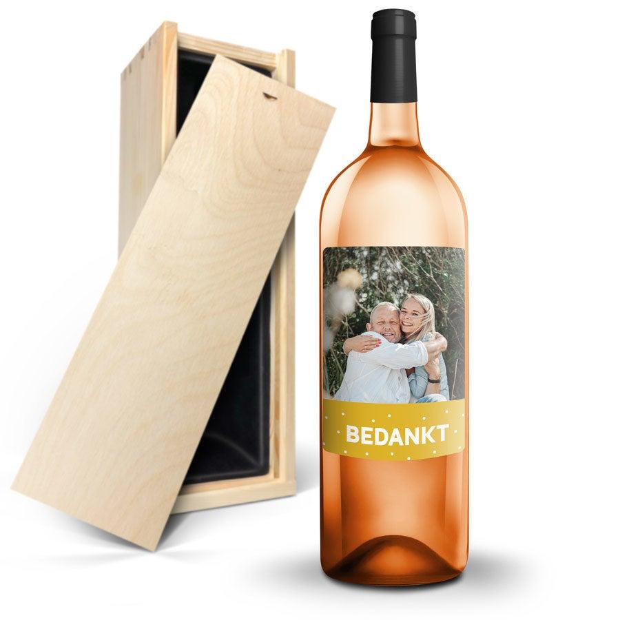 Wijn met bedrukt etiket - AIX rosé (Magnum)