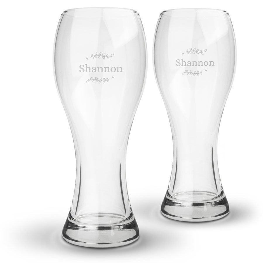 Individuellküchenzubehör - Weizenbierglas mit Gravur (2 Stück) - Onlineshop YourSurprise