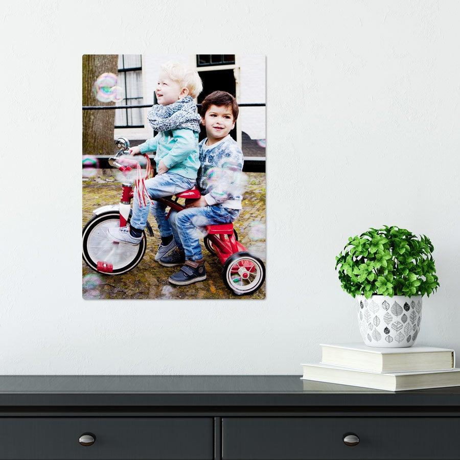 ChromaLuxe Alumiininen valokuvapaneeli - Harjattu (30x40cm)