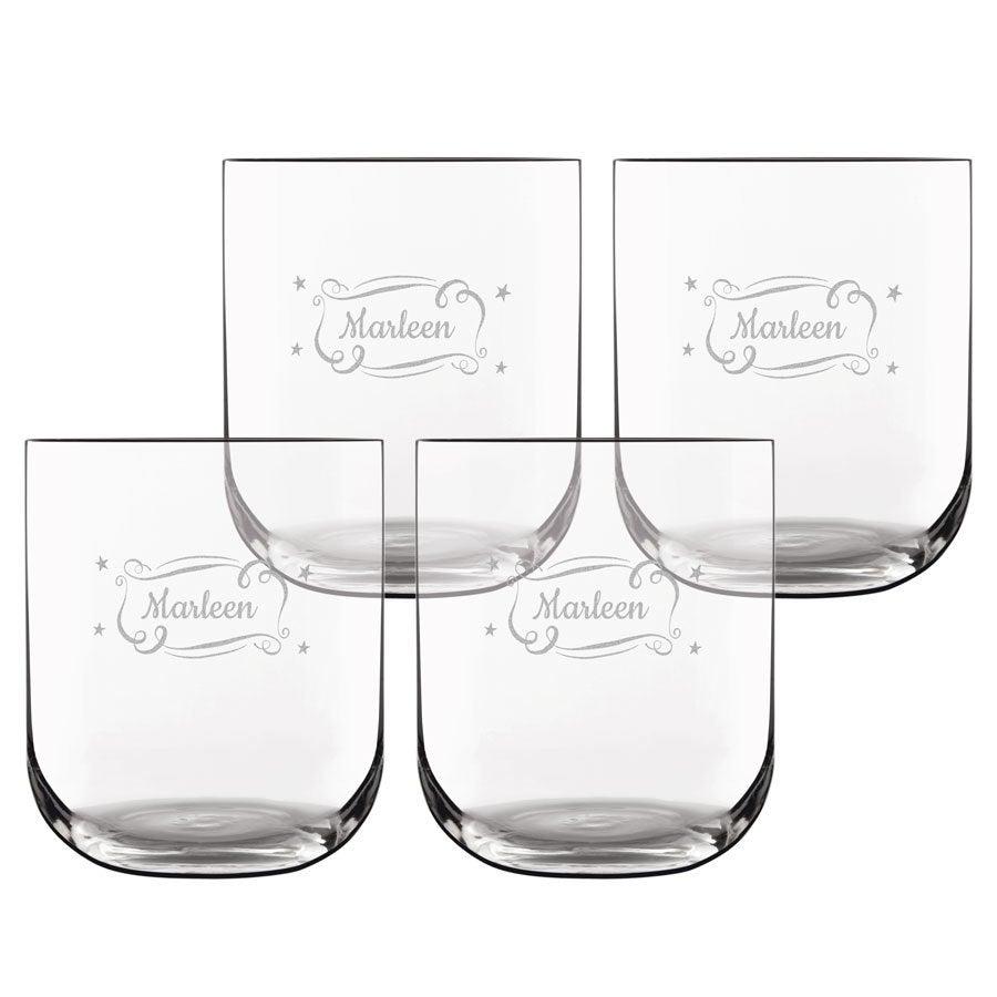 Waterglas deluxe - 4 stuks