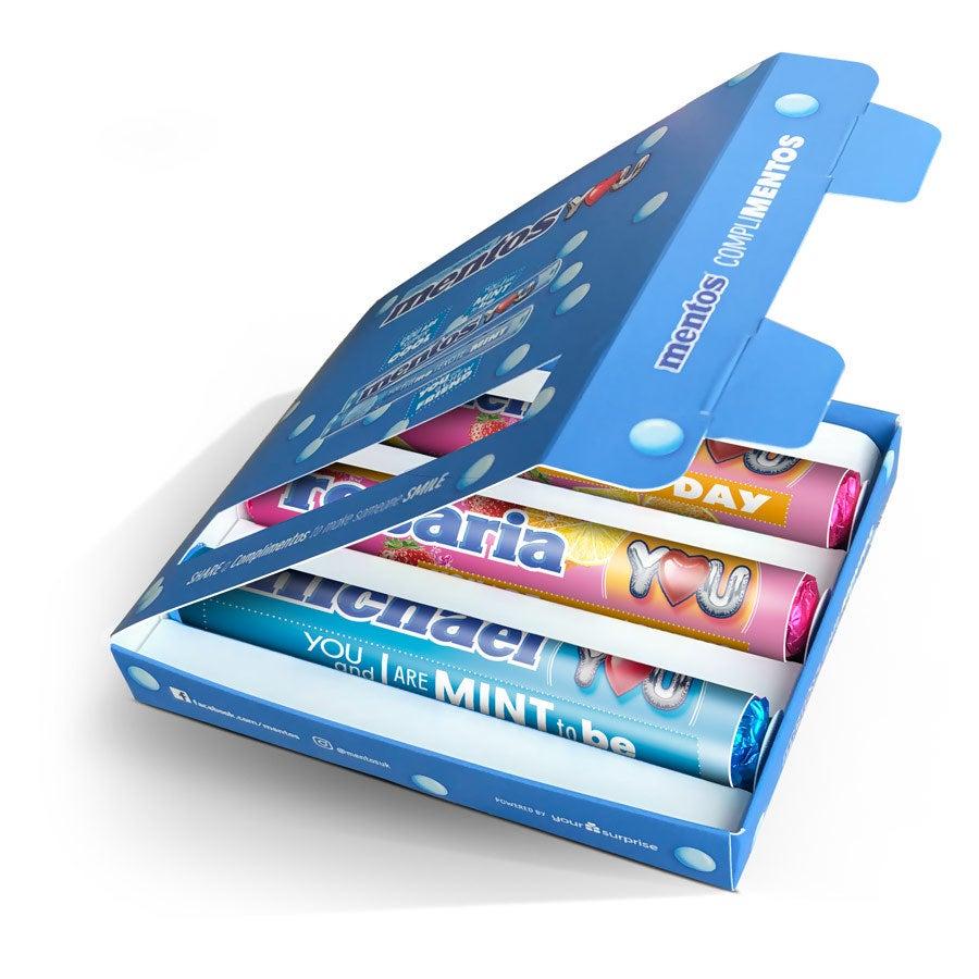 Mentos darčeková krabička - modrá