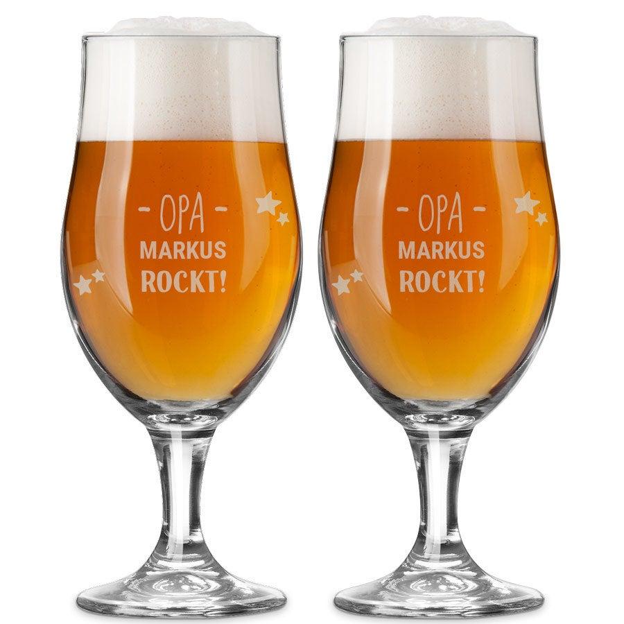 Bierglas mit Gravur - Opa (2 Stück)