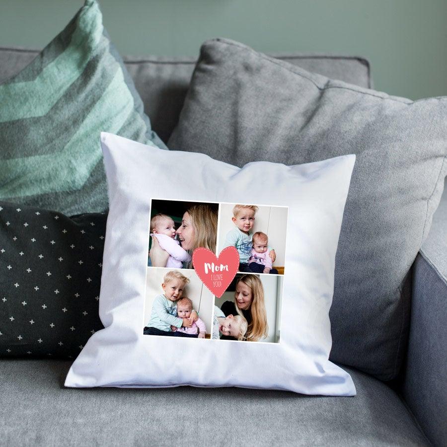 Äitienpäivä tyyny - valkoinen