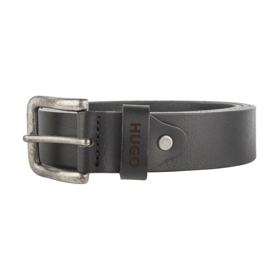 Cinto de couro personalizado - preto (80)